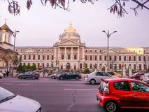 Härlig arhitecture från Bucharest Arkivbilder