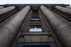 Härlig arkitektur av den gamla byggnaden Royaltyfria Bilder