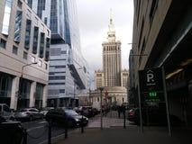 Härlig arkitektur av Warszawa arkivfoton