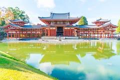 Härlig arkitektur Byodo-i templet på Kyoto Fotografering för Bildbyråer
