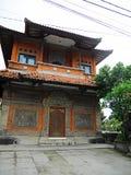 Härlig arkitektur i Bali, härliga hus i Bali Arkivfoton