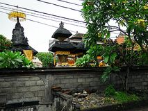 Härlig arkitektur i Bali, härliga hus i Bali Arkivfoto