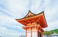 Härlig arkitektur i den Kiyomizu-dera templet Kyoto, Japan Arkivbild