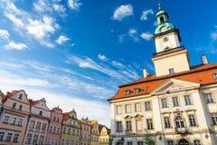 Härlig arkitektur i Jelenia Gora, Polen Royaltyfri Foto