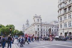 Härlig arkitektur i London den cty mitten Fotografering för Bildbyråer