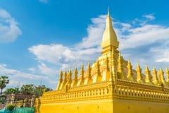 Härlig arkitektur på Pha som Luang, Vientiane, Laos Royaltyfria Foton