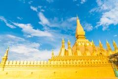 Härlig arkitektur på Pha som Luang, Vientiane, Laos Arkivbilder