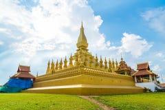 Härlig arkitektur på Pha som Luang, Vientiane, Laos Arkivfoto