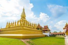 Härlig arkitektur på Pha som Luang, Vientiane, Laos Fotografering för Bildbyråer
