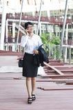 Härlig asiatisk affärskvinna. royaltyfri foto