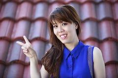 Härlig asiatisk flicka Arkivbilder