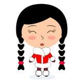 Härlig asiatisk flicka Arkivfoto