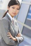Härlig asiatisk kinesisk kvinna eller affärskvinna Arkivfoton