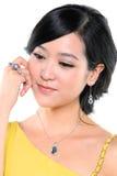 Härlig asiatisk kvinna royaltyfri fotografi