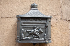 härlig askpostmetall Royaltyfri Bild