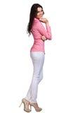 Härlig bärande klänning för modemodell Fotografering för Bildbyråer