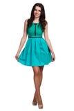 Härlig bärande klänning för modemodell Royaltyfria Foton