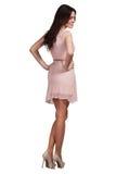 Härlig bärande klänning för modemodell Arkivbild