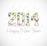 Härlig backgroun 2014 för illustration för lyckligt nytt år för beröm Royaltyfri Foto