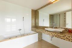 härlig badrum Fotografering för Bildbyråer