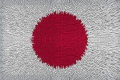Härlig bakgrund av en japansk flagganärbild royaltyfri illustrationer