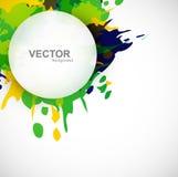 Härlig bakgrund för grunge för färgstänk för Brasilien färgcirkel Arkivfoto
