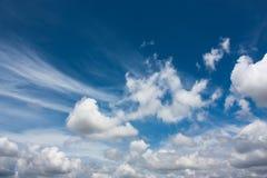Härlig bakgrund för molnig himmel Royaltyfria Foton