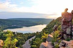 Härlig bakgrund för Wisconsin sommarnatur royaltyfri bild