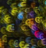 Härlig bakgrund med det olika kulöra symboleuroet, abstrac Arkivfoton
