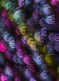 Härlig bakgrund med det olika kulöra symboleuroet, abstrac Royaltyfri Bild