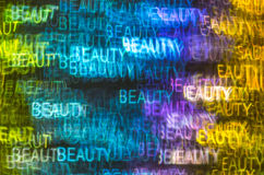 Härlig bakgrund med olik kulör ordskönhet, abstrac Arkivbild