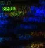 Härlig bakgrund med olik kulör ordskönhet, abstrac Arkivfoto