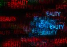 Härlig bakgrund med olik kulör ordskönhet, abstrac Royaltyfri Fotografi