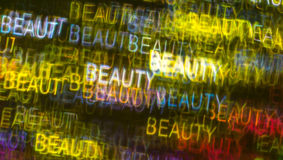 Härlig bakgrund med olik kulör ordskönhet, abstrac Arkivbilder