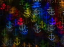Härlig bakgrund med olika kulöra ankaren, abstrakta lodisar Royaltyfria Foton