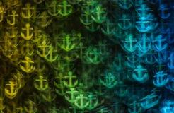 Härlig bakgrund med olika kulöra ankaren, abstrakta lodisar Arkivbild