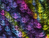 Härlig bakgrund med olika kulöra ankaren, abstrakta lodisar Arkivbilder