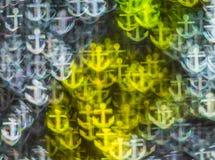 Härlig bakgrund med olika kulöra ankaren, abstrakta lodisar Arkivfoton