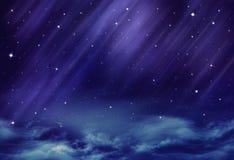 Härlig bakgrund, natthimmel stock illustrationer
