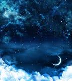 Härlig bakgrund, nightly himmel Royaltyfri Fotografi