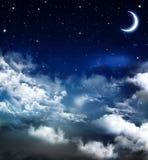 Härlig bakgrund, nightly himmel Arkivbild