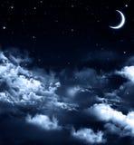 Härlig bakgrund, nightly himmel Royaltyfri Bild