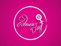 Härlig bakgrundsdesign för kvinnors dag stock illustrationer