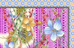 Härlig bakgrundsdesign med blommor Arkivfoto