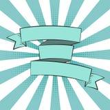 Härlig bandetikett i popet Art Style Vector Illustration vektor illustrationer