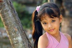 härlig barncloseupframsida Fotografering för Bildbyråer