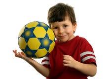 härlig barnfotboll för boll Royaltyfria Bilder
