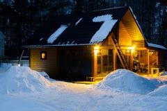Härlig bathhouse för vinter royaltyfri bild