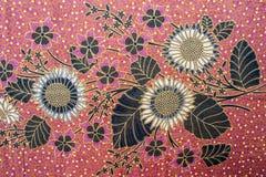 Härlig Batikmodell Arkivfoto