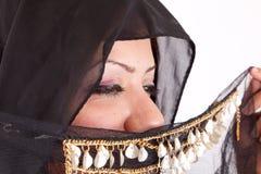 Härlig beduinkvinna Arkivbilder